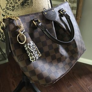 Authentic Damier ebene Cheetah print keychain